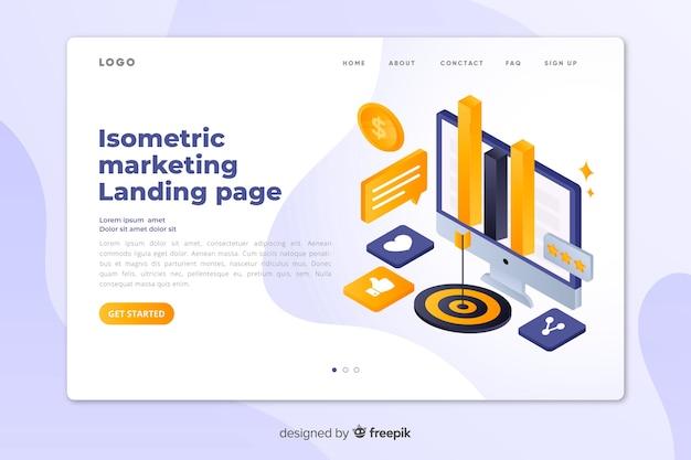 Isometrische marketing bestemmingspagina sjabloon