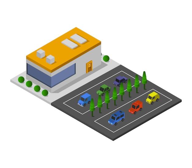 Isometrische markt