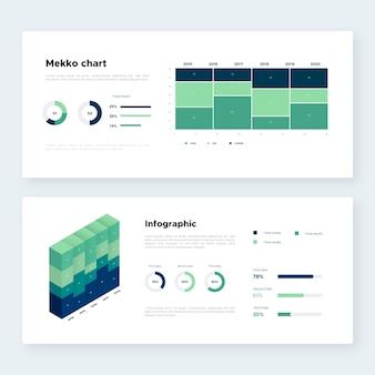 Isometrische mekko-grafieksjabloon