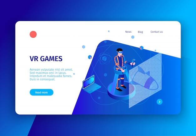 Isometrische mensen interfaces concept banner met klikbare links knoppen en tekst met conceptuele afbeeldingen en elektronica vector illustratie