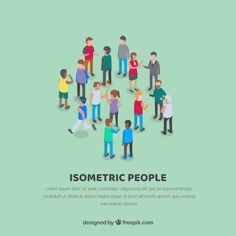 Isometrische mensen relaties achtergrond