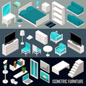 Isometrische meubelset