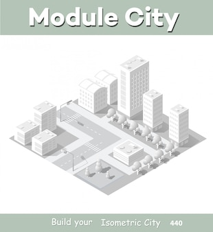 Isometrische module gebied downtown