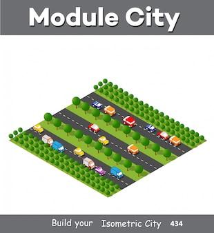 Isometrische module is gebiedslandschap