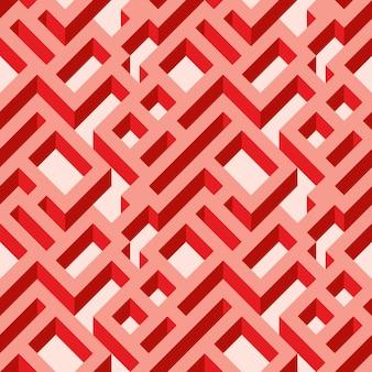 Isometrische naadloze doolhofpatroon. abstracte eindeloze ornament textuur. geometrische abstracte achtergrond.