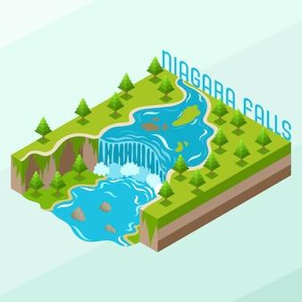 Isometrische niagara-watervallen