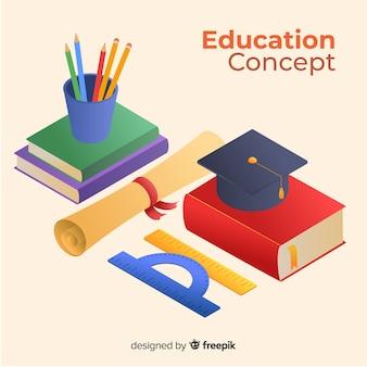 Isometrische onderwijsachtergrond