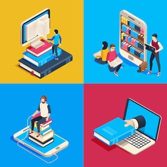 Isometrische online bibliotheek