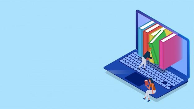 Isometrische online bibliotheek.