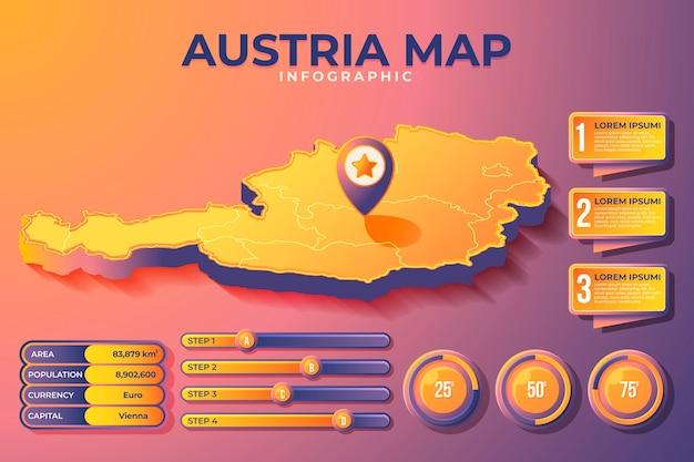 Isometrische oostenrijk kaart infographic