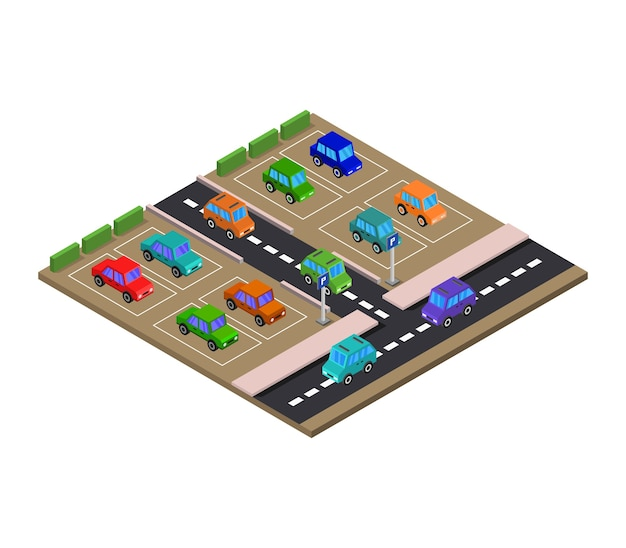 Isometrische parkeerplaats