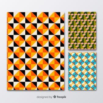 Isometrische patroon brochure pack