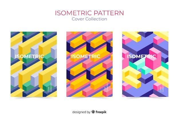 Isometrische patroon cover collectie