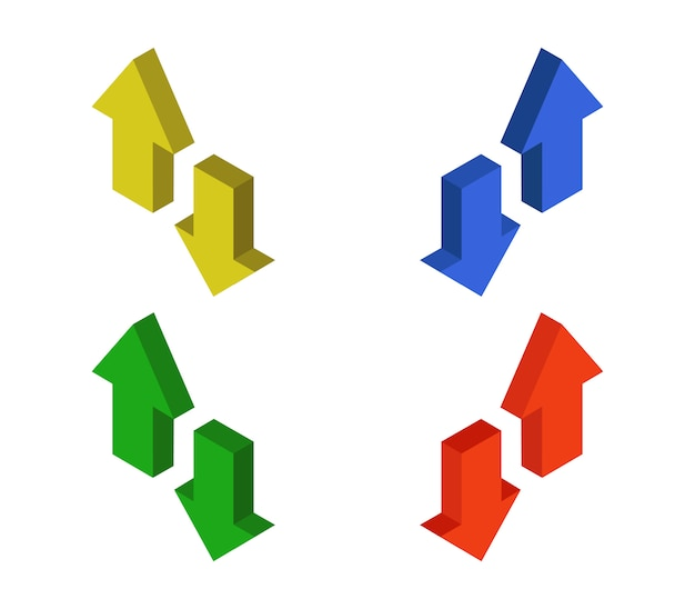 Isometrische pijlen set