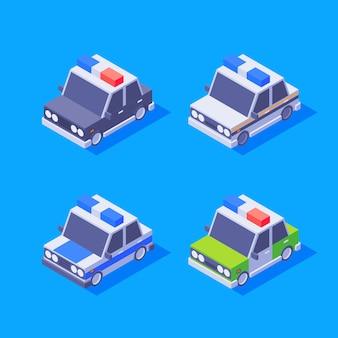 Isometrische politieautoset