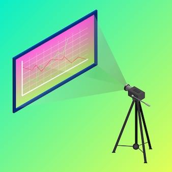 Isometrische projectie camera office meeting