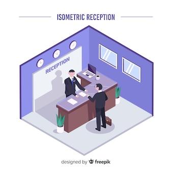 Isometrische receptie concept