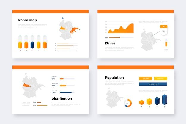 Isometrische rome kaart statistieken