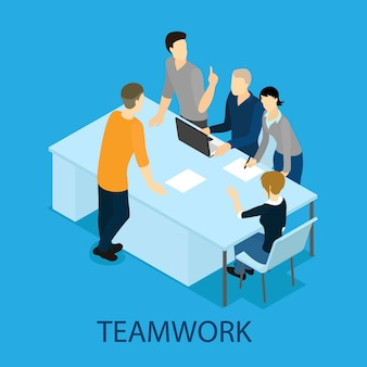 Isometrische samenwerking concept