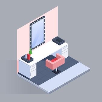 Isometrische schoonheidssalon concept
