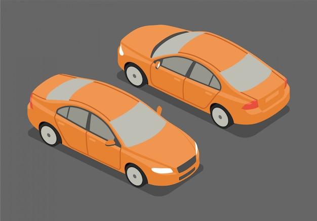 Isometrische sedan vectorillustratie