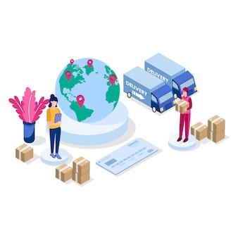 Isometrische service voor levering en ligistiek controleren