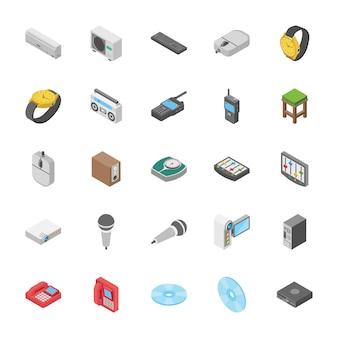 Isometrische set objecten collectie