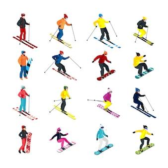 Isometrische set skiën