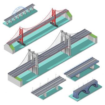Isometrische set van bruggen