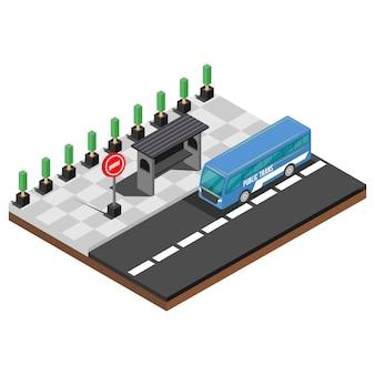 Isometrische snel voedselplaatsen, illustratievector