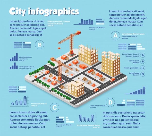 Isometrische stadskaart industrie
