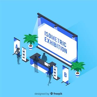 Isometrische stand tentoonstelling concept