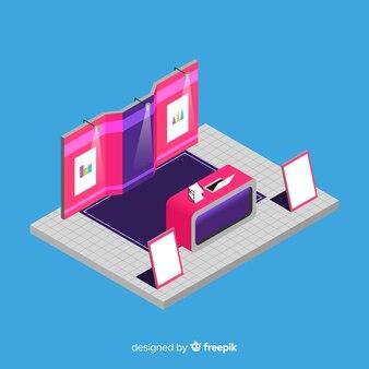 Isometrische stand tentoonstelling ontwerp