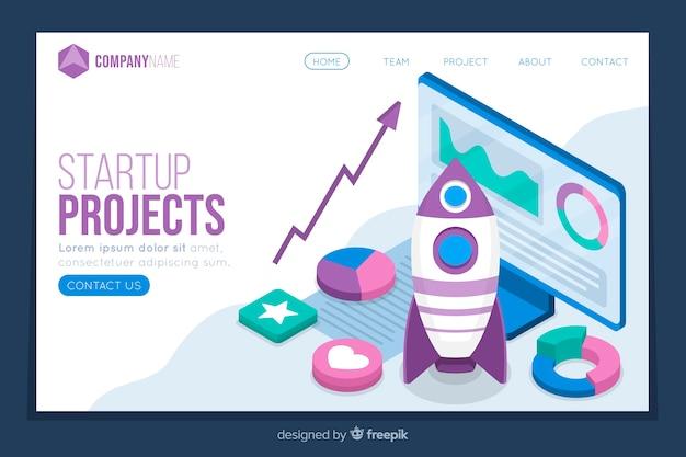 Isometrische startpagina projecten startpagina