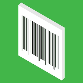 Isometrische streepjescode geïsoleerd op een witte achtergrond barcode kan worden gebruikt voor verkoop betalen betaling
