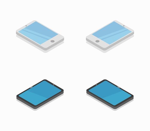 Isometrische tablet-collectie
