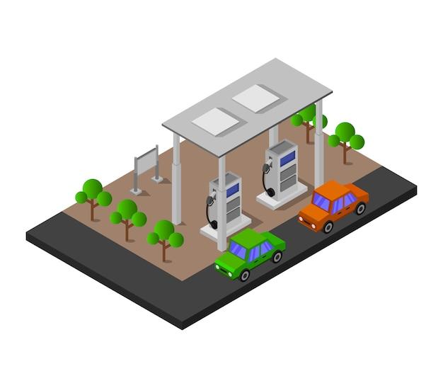 Isometrische tankstation