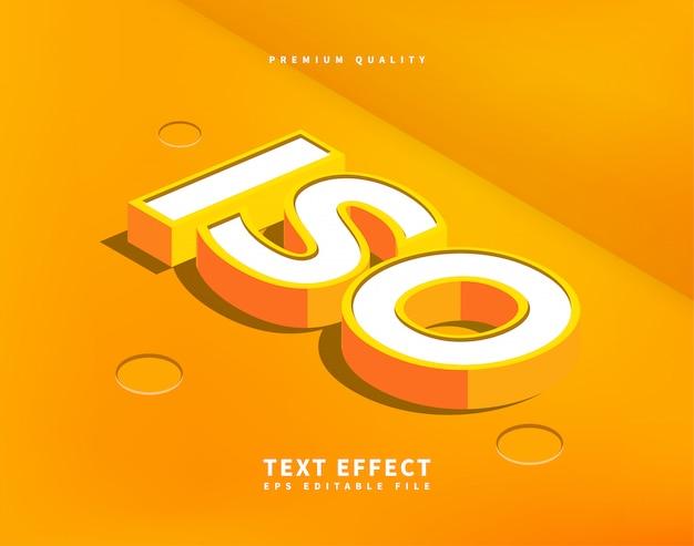 Isometrische tekst effect 3d-letters cartoon in vlakke stijl.