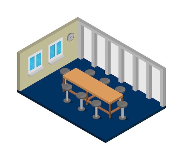 Isometrische vergaderruimte