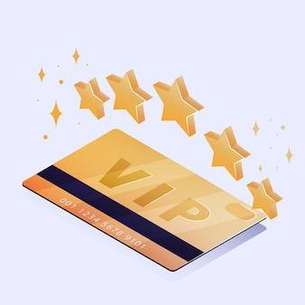 Isometrische vip-kaart met gouden details