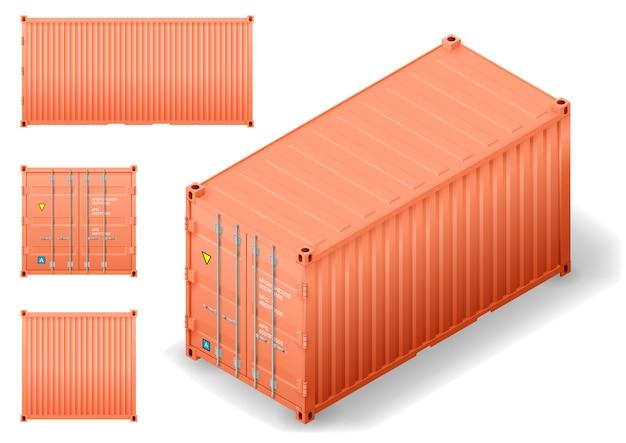 Isometrische vrachtcontainer