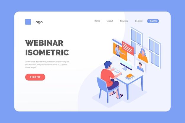 Isometrische webinar-bestemmingspagina