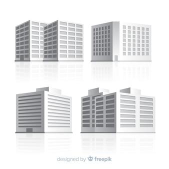 Isometrische weergave van moderne kantoorgebouwen