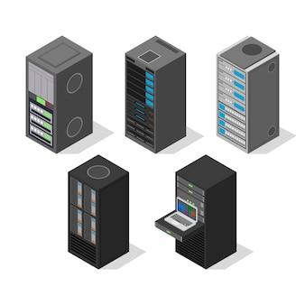 Isometrische weergave van serverapparatuur instellen