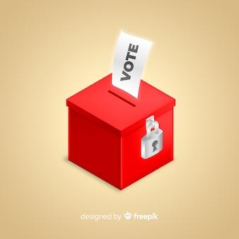 Isometrische weergave van verkiezingsbox Premium Vector