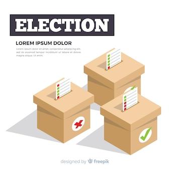 Isometrische weergave van verkiezingsbox