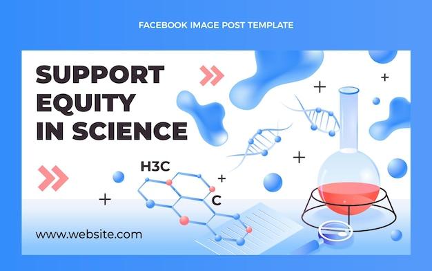 Isometrische wetenschap facebook bericht