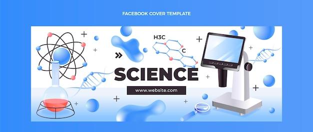 Isometrische wetenschap facebook omslag