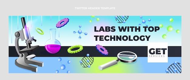 Isometrische wetenschap twitter header