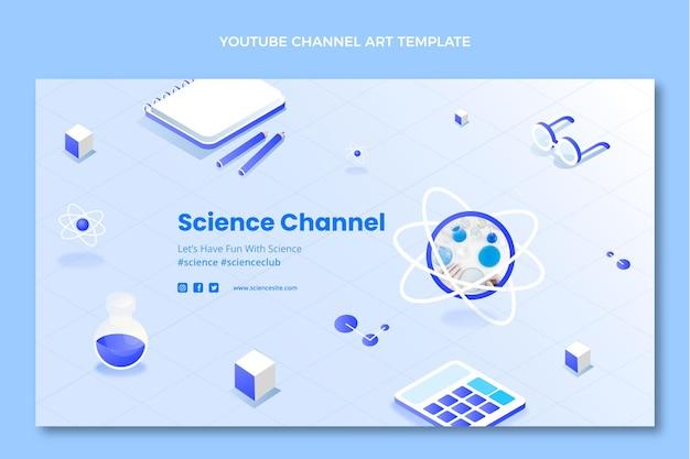 Isometrische wetenschap youtube channel art